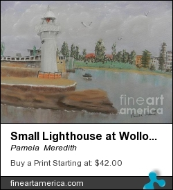 Small Lighthouse At Wollongong Harbour by Pamela  Meredith - Painting - Soft Pastels On Pastel Paper