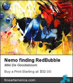 Nemo Finding Redbubble by Miki De Goodaboom - Painting