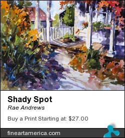 Shady Spot by Rae Andrews - Painting - Watercolor