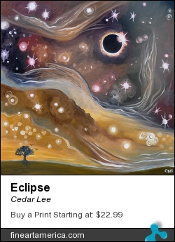 Eclipse by Cedar Lee - Painting - Oil On Canvas