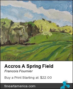 Accros A Spring Field by Francois Fournier - Painting - Oil Painting