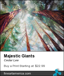 Majestic Giants by Cedar Lee - Painting - Oil On Canvas