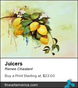 Juicers by Renee Chastant - Painting - Watercolor