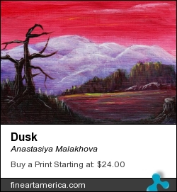 Dusk by Anastasiya Malakhova - acrylic on linen canvas card