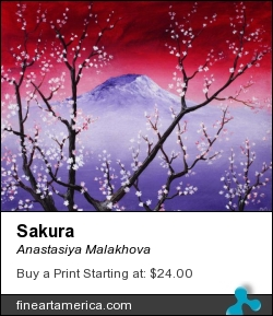 Sakura by Anastasiya Malakhova - acrylic on canvas