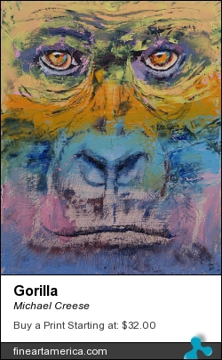 Gorilla by Michael Creese - Painting - Oil On Canvas