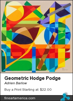 Geometric Hodge Podge by Adrien Barlow - Painting - Acrylic On Canvas