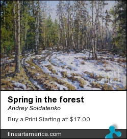 Spring In The Forest by Andrey Soldatenko - Painting - Oil On Canvas