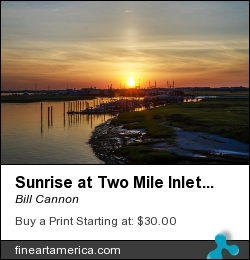 Sunrise At Two Mile Inlet - Wildwood Crest by Bill Cannon - Photograph - Photo