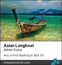 Asian Longboat by Adrian Evans - Photograph - Photography
