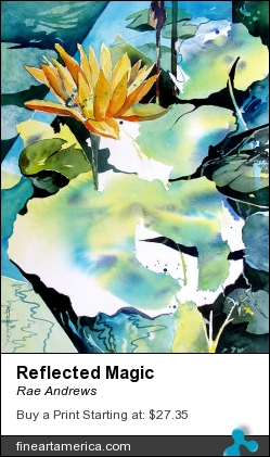 Reflected Magic by Rae Andrews - Painting - Watercolor
