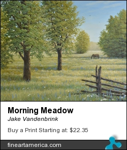 Morning Meadow by Jake Vandenbrink - Painting - Acrylic