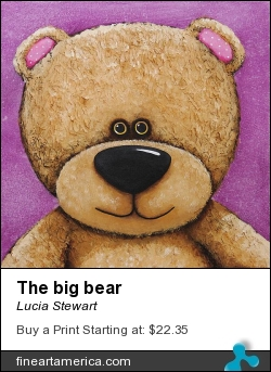 The Big Bear by Lucia Stewart - Painting - Acrylic On Canvas