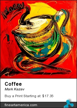 Coffee by Mark Kazav - Painting - Oil On Canvas