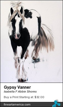 Gypsy Vanner by Isabella F Abbie Shores - Painting - Oil Painting