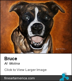 Bruce by Al  Molina - Painting - Acrylic On Canvas