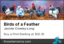Birds Of A Feather by Jacinta Crowley-Long - Painting - Oil On Canvas