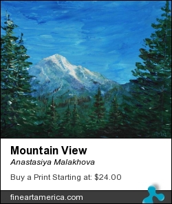 Mountain View by Anastasiya Malakhova - acrylic on canvas