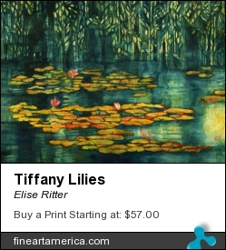 Tiffany Lilies by Elise Ritter - Painting - Watercolor