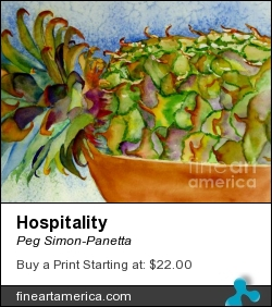 Hospitality by Peg Simon-Panetta - Painting - Watercolor