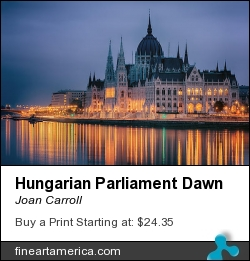 Hungarian Parliament Dawn by Joan Carroll - Photograph - Digital Photograph