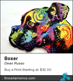 Boxer by Dean Russo - Painting - Fine Art Print