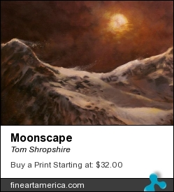 Moonscape by Tom Shropshire - Painting - Acrylic On Canvas