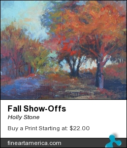 Fall Show-offs by Holly Stone - Painting - Oil On Board
