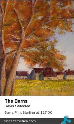 The Barns by David Patterson - Painting - Pastel