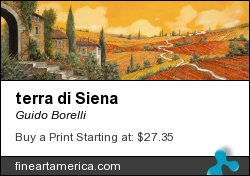 terra di Siena by Guido Borelli - Painting - Oil On Canvas