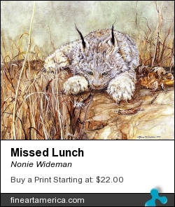 Missed Lunch by Nonie Wideman - Painting - Mixed Medium