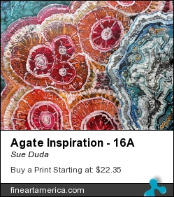Agate Inspiration - 16a by Sue Duda - Painting - Batik On Silk