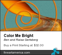 Color Me Bright by Ben and Raisa Gertsberg - Digital Art - Digital Painting
