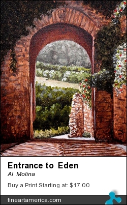 Entrance To Eden by Al  Molina - Painting - Acrylic On Canvas