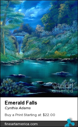 Emerald Falls by Cynthia Adams - Painting - Oil On Canvas