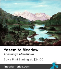 Yosemite Meadow by Anastasiya Malakhova - acrylic on canvas