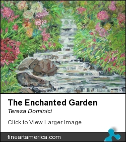 The Enchanted Garden by Teresa Dominici - Painting - Acrylic On Canvas
