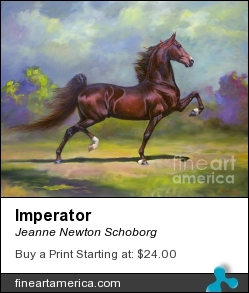 Imperator by Jeanne Newton Schoborg - Painting - Oil On Canvas