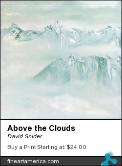 Above The Clouds by David Snider - Painting - Oil On Canvas