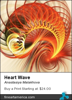Heart Wave by Anastasiya Malakhova - fractal art