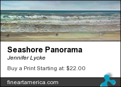Seashore Panorama by Jennifer Lycke - Painting - Oil On Canvas