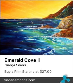 Emerald Cove II by Cheryl Ehlers - Painting - Acrylic On Canvas