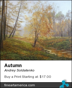Autumn by Andrey Soldatenko - Painting - Oil On Canvas