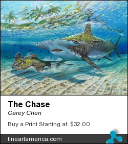 The Chase by Carey Chen - Painting - Acrylic On Canvas