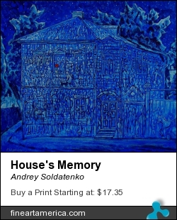 House's Memory by Andrey Soldatenko - Painting - Oil Tempera Canvas