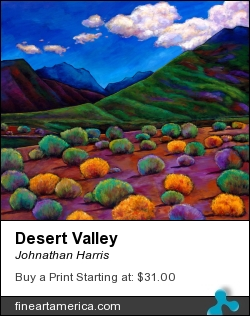 Desert Valley by Johnathan Harris - Painting - Acrylic On Canvas