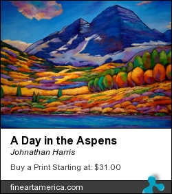 A Day In The Aspens by Johnathan Harris - Painting - Acrylic On Canvas
