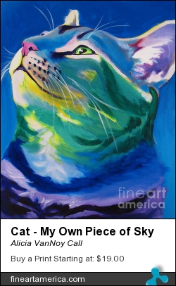 Cat - My Own Piece Of Sky by Alicia VanNoy Call - Painting - Acrylic On Canvas