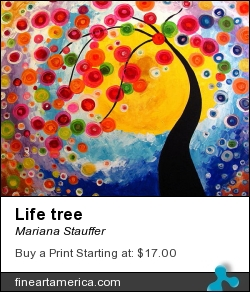 Life Tree by Mariana Stauffer - Painting - Mixed Media