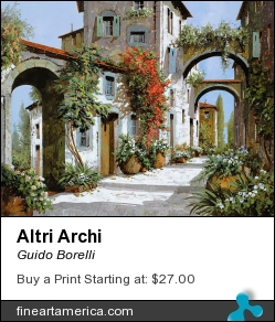Altri Archi by Guido Borelli - Painting - Oil On Canvas